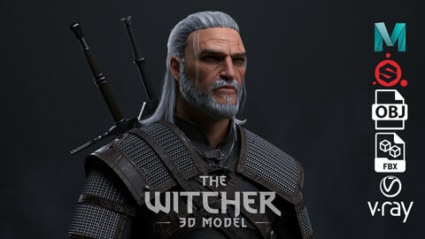 The Witcher - Geralt of rivia - 3D model