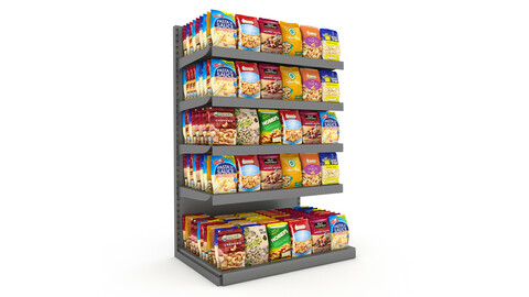 cookie and chips store 3D model