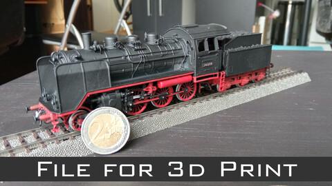 Steam locomotive - Class 24 - 3d print