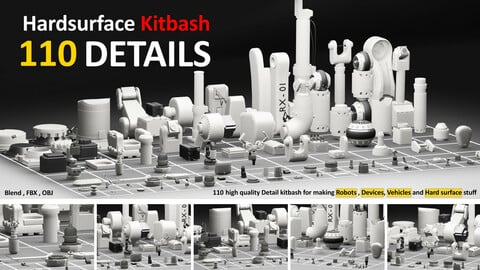 hard surface 110  Detail kitbash