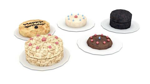 3D 3d cake types model