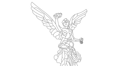 Angel Of Independence For Engraving
