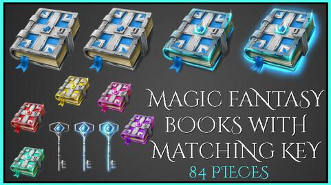 Fantasy Magic Book with matching key