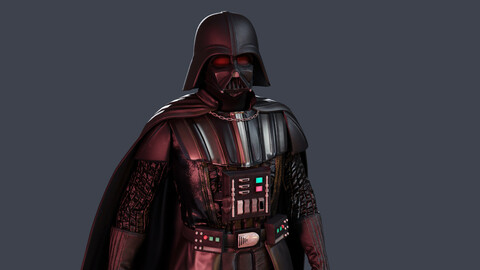 Darth Vader Low-poly 3D model