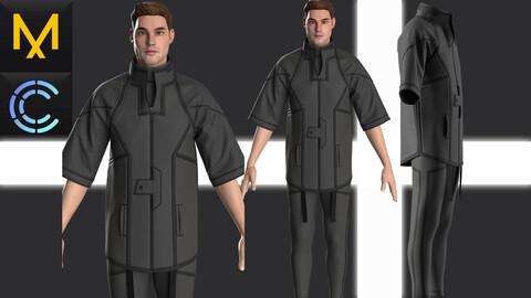New concept Marvelous Clo3D Outfit Male CyberPunk