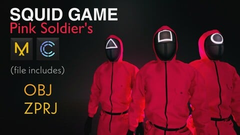 Squid game Pink soldier's