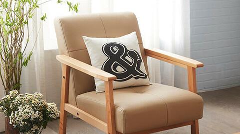 Canoe Nordic wood sofa 1 seat