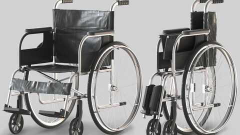 hospital wheelchair open and folded