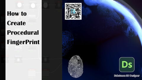 How to create procedural FingerPrint | Substance 3D Designer