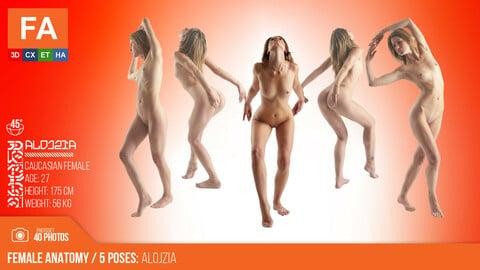 Female Anatomy | Alojzia 5 Various Poses | 40 Photos #2
