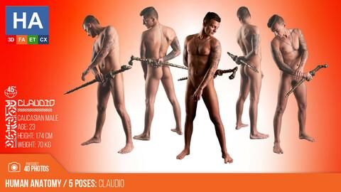Human Anatomy | Claudio 5 Standing Poses | 40 Photos #2