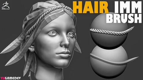 Hair IMM Brush for ZBrush