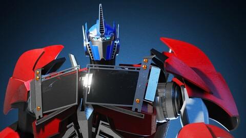 Optimus Prime Transformers Prime 3D Character Rig