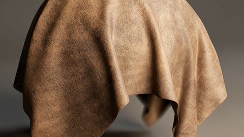 PBR - WORN LEATHER, ASH BROWN - 4K MATERIAL