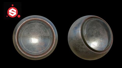 glass + metal rust shader (smart material)