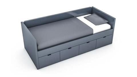 3d wardrobe bed 03 3D model