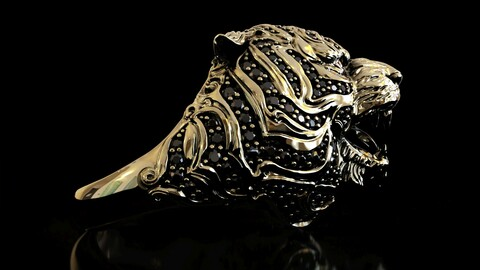 Tiger Ring 3D print