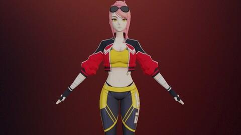 cartoon female sport costume (M97)