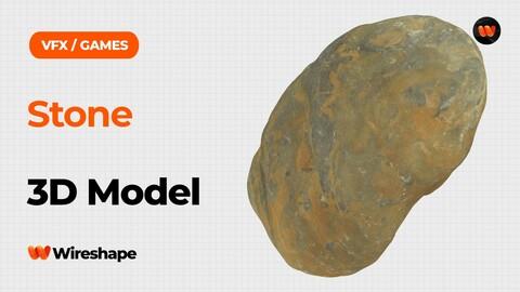 Stone Raw Scanned 3D Model