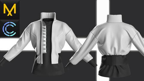 New Concept Cyberpunk jacket female Obj Fbx ZPRJ