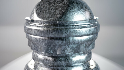 PBR - GALVANIZED SURFACE METAL - 4K MATERIAL