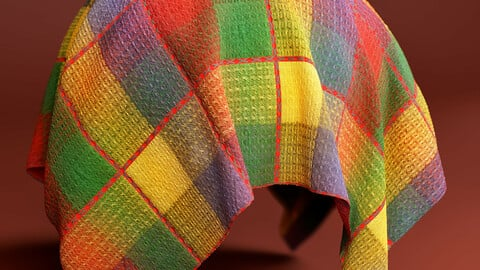 PBR - QUILT STITCH COLORFULL FABRIC - 4K MATERIAL