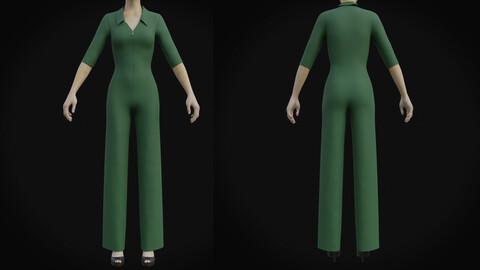 3D Female formal jumpsuit