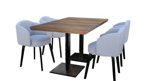 3D modern desk chair