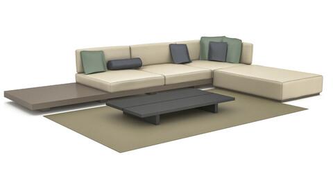 3D model modern sitting group
