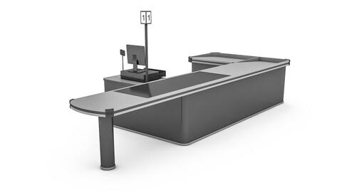the cash register department 3D