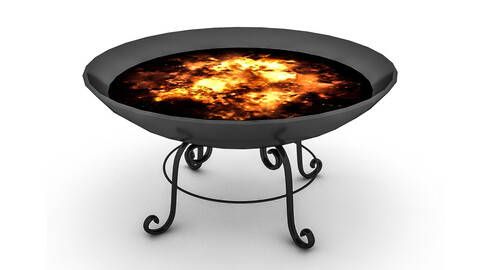 3D model fire pit barbecue