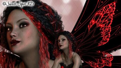 Halloween Fairy Red
