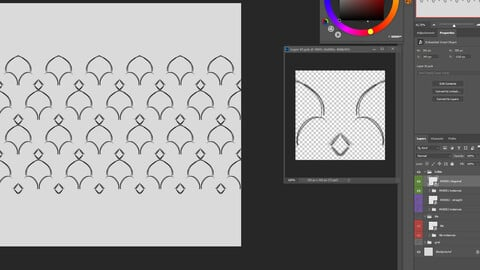Ornament / Pattern Design Template for Photoshop