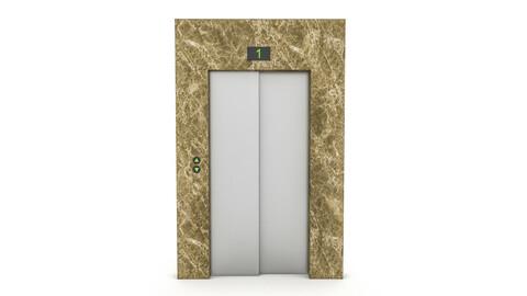 elevator entrance 3D