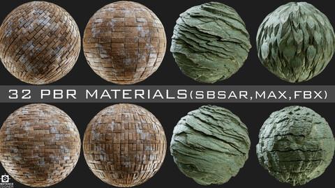 32 PBR Materials