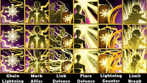 Fantasy Game Basic Knight Skill Icons - Defence Skills