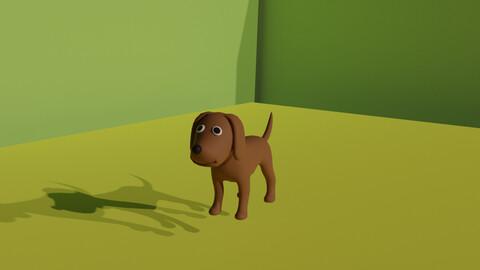 Cartoon Dog 3D Model.