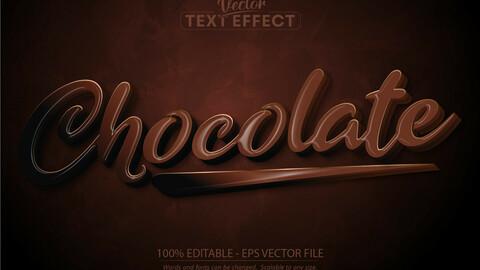 Chocolate text, cartoon style editable text effect