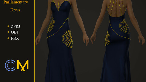 Stylish Parliamentary Dress Marvelous Designer And Clo3d