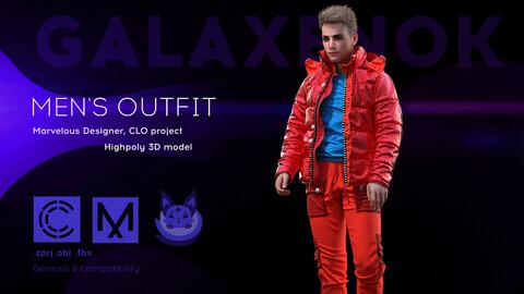 Men's Outfit. Avatar genesis 8 Male. Marvelous Designer, Clo3d project .OBJ.FBX files