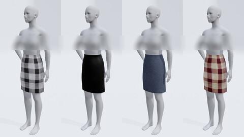 short skirt 3d model clothing