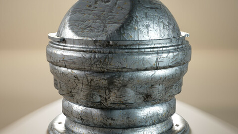PBR - VERY UGLY DAMAGE METAL SURFACE, SCRATCHED - 4K MATERIAL