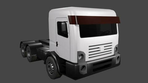 White Truck - Caminhao Low-poly 3D model