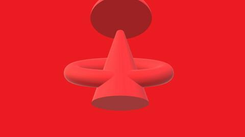 3D Модель Треугольника авторская