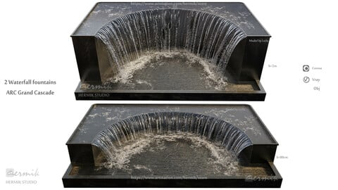 2 Waterfall fountains ARC Grand Cascade