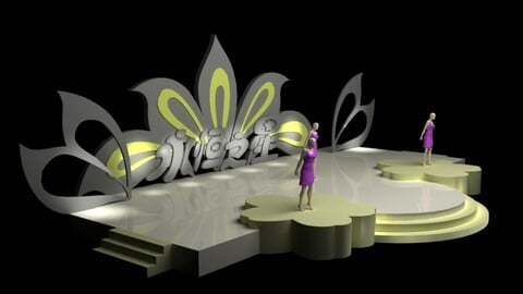 3DS Max 2014 Stage Concert 1
