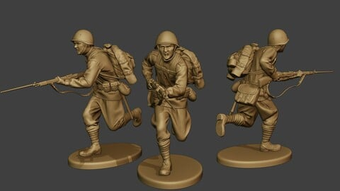 Russian soldier ww2 Run R1