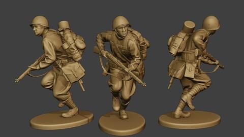 Russian soldier ww2 Run2 R1