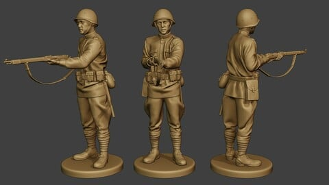Russian soldier ww2 Stand2 R1