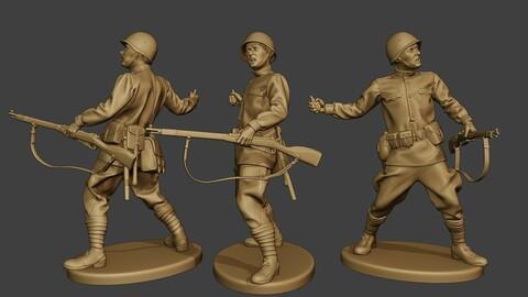 Russian soldier ww2 Throw Grenade R1